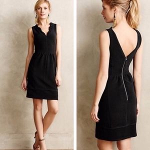 Anthropologie Maeve Ottoman Ribbed Stretch Dress S